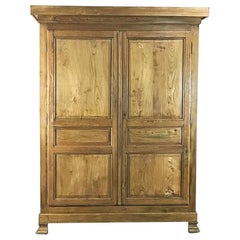 19th Century French Louis Philippe Pine Armoire
