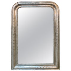 19th Century French Louis Philippe Silver Mirror