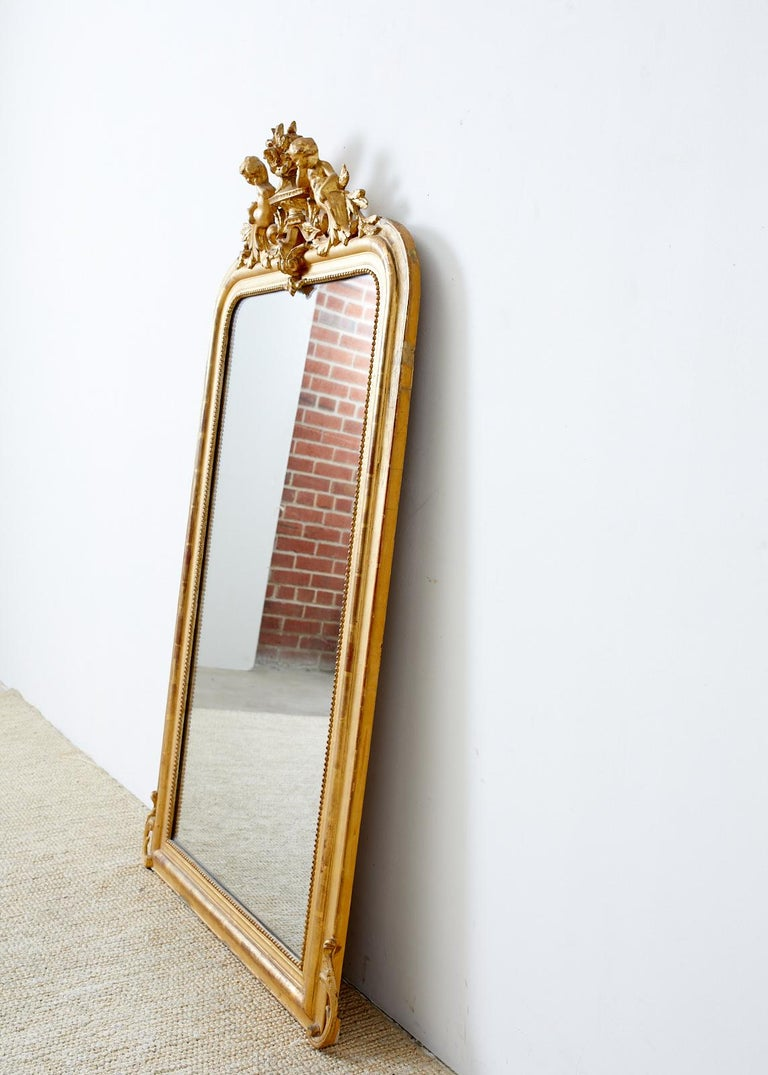 19th Century French Louis Philippe Style Giltwood Mirror For Sale 6