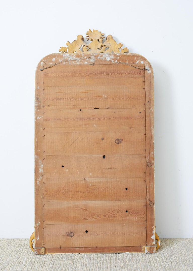 19th Century French Louis Philippe Style Giltwood Mirror For Sale 9