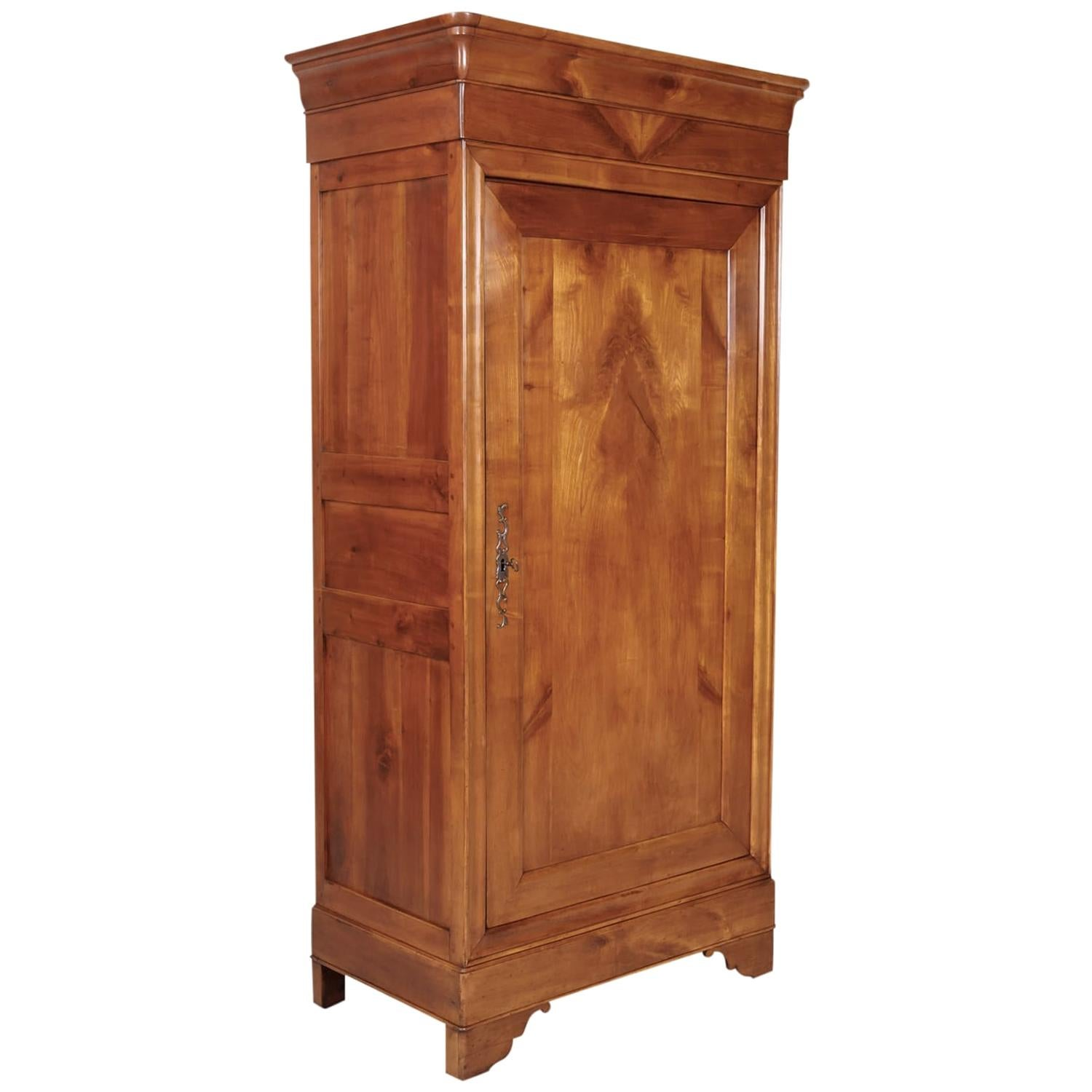 19th Century French Louis Philippe Style Solid Cherry Bonnetiere