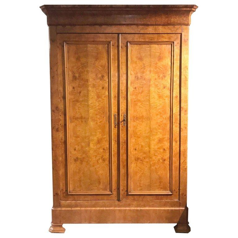 Mid-19th Century 19th Century French Louis Philippe Two-Door Armoire For Sale