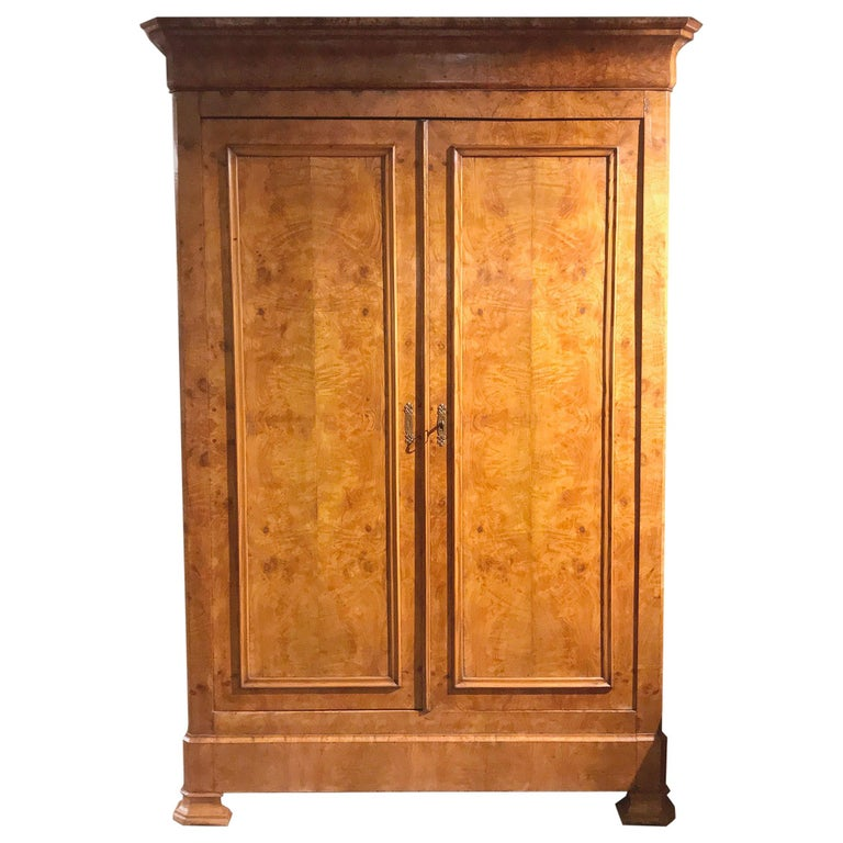 19th Century French Louis Philippe Two-Door Armoire For Sale