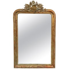 19th Century French Louis Phillipe Carved Mirror