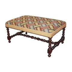 19th Century French Louis XIII Bench or Footstool