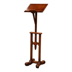 19th Century French Louis XIII Carved Oak Adjustable Lectern Book Stand