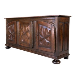 19th Century French Louis XIII Renaissance Style Enfilade Buffet