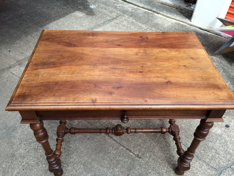 Late 19th Century 19th Century French Louis XIII Style Walnut Table For Sale