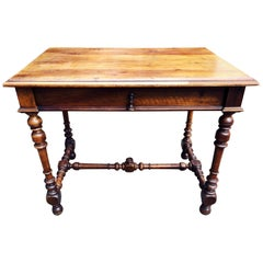 19th Century French Louis XIII Style Walnut Table