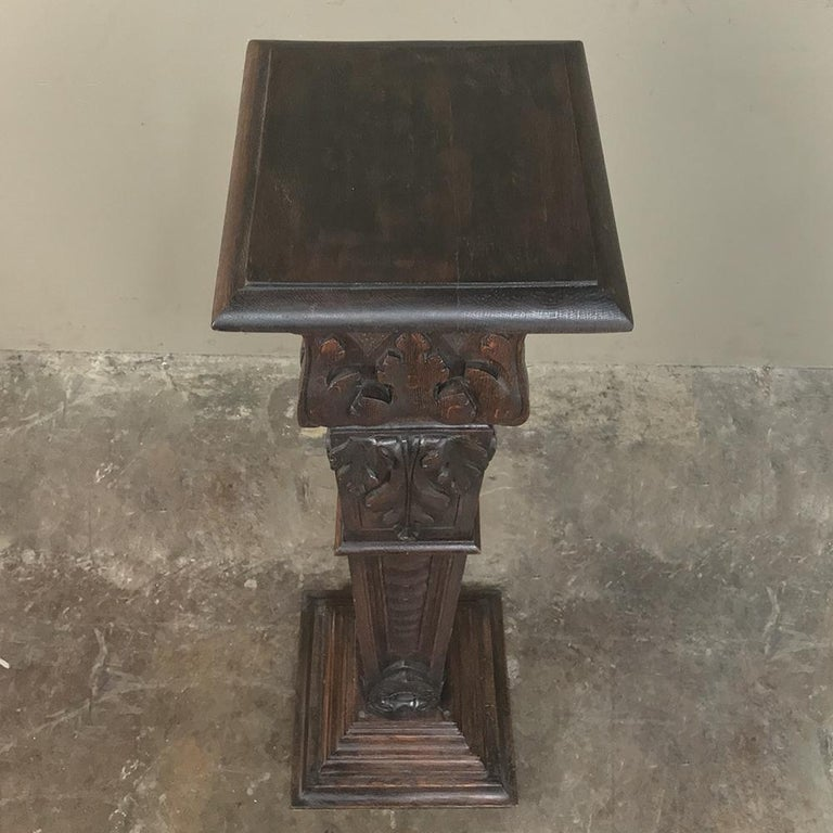 19th Century French Louis XIV Carved Fruitwood Pedestal For Sale 1