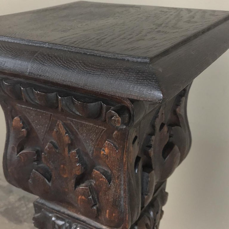 19th Century French Louis XIV Carved Fruitwood Pedestal For Sale 5