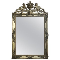 19th Century French Louis XIV Gilded Mirror