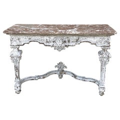 19th Century French Louis XIV Marble-Top Console