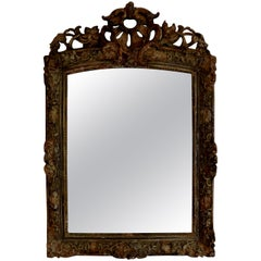 19th Century French Louis XIV Style Painted Mirror