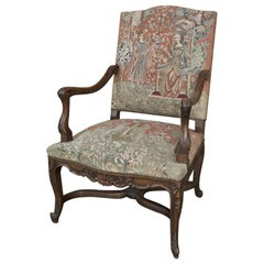 19th Century French Louis XV Armchair with Tapestry