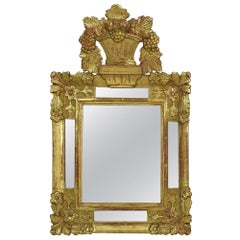 19th Century French Louis XV Baroque Style Giltwood Mirror