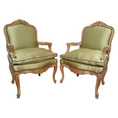 19th Century French Louis XV Bergères Chairs