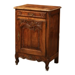 19th Century French Louis XV Carved Chestnut Jelly Cabinet from Normandy