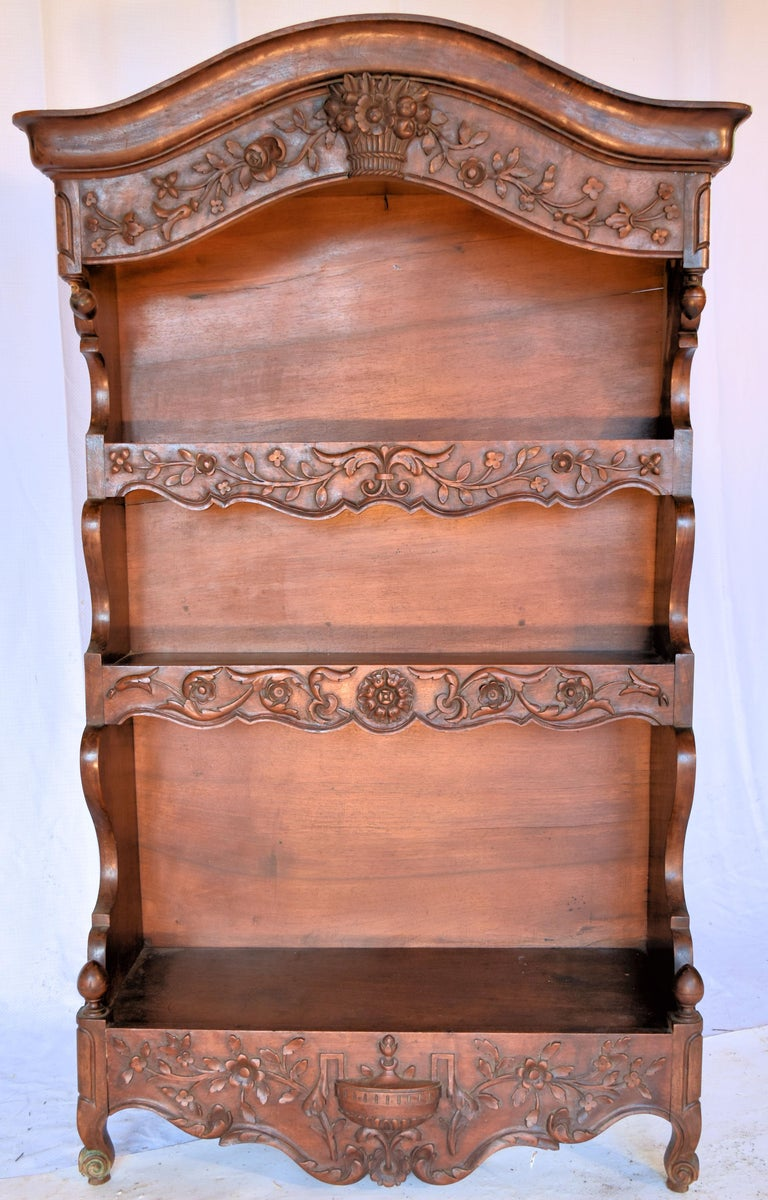 Hand carved fruitwood