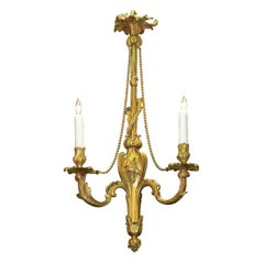 19th Century French Louis XV Gilt Bronze Chandelier