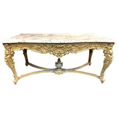 19th Century French Louis XV Style Giltwood Center Table