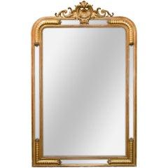 19th Century French Louis XV Giltwood Mirror