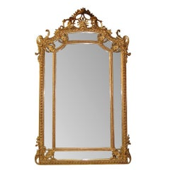 19th Century French Louis XV Giltwood Wall Mirror