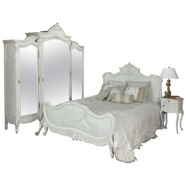 19th Century French Louis XV Painted Bedroom Set at 1stdibs