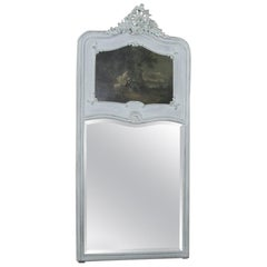 19th Century French Louis XV Painted Trumeau / Mirror