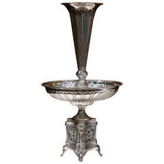19th Century French Louis XV Silver Plated Epergne Centrepiece