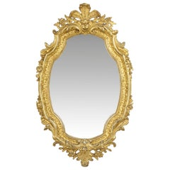 19th Century French Louis XV Style Antique Giltwood Wall Pier Mirror