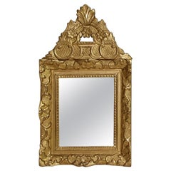 19th Century French Louis XV Style Baroque Giltwood Mirror