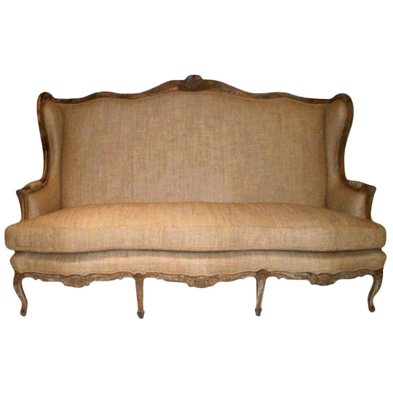 19th Century French Louis XV Style Canapé or Sofa For Sale