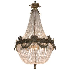 19th Century French Louis XV Style Gilt Bronze and Crystal Chandelier