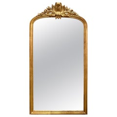 19th Century French Louis XV Style Giltwood Floor Mirror