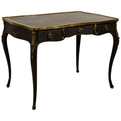 19th Century, French Louis XV Style, Lacquered Wood Desk