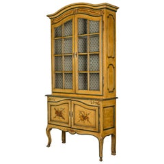 19th Century French Louis XV Style Vitrine or Bookcase