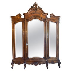 19th Century French Louis XV Style Walnut Armoire