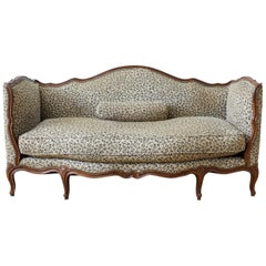 19th Century French Louis XV Style Walnut Canapé Settee