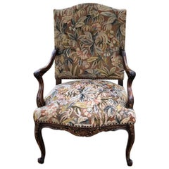19th Century French Louis XV Tapestry Armchair