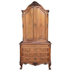 19th Century French Louis XV Walnut Cabinet, Commode
