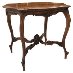 19th Century French Louis XV Walnut End Table