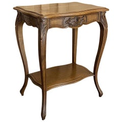 19th Century French Louis XV Walnut Jewelry Table, End Table