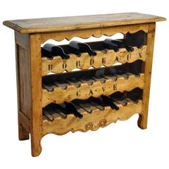 19th Century, French, Louis XV Wine Bottle Storage Cabinet Buffet from Bordeaux