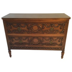 19th Century French Louis XVI Carved Commode