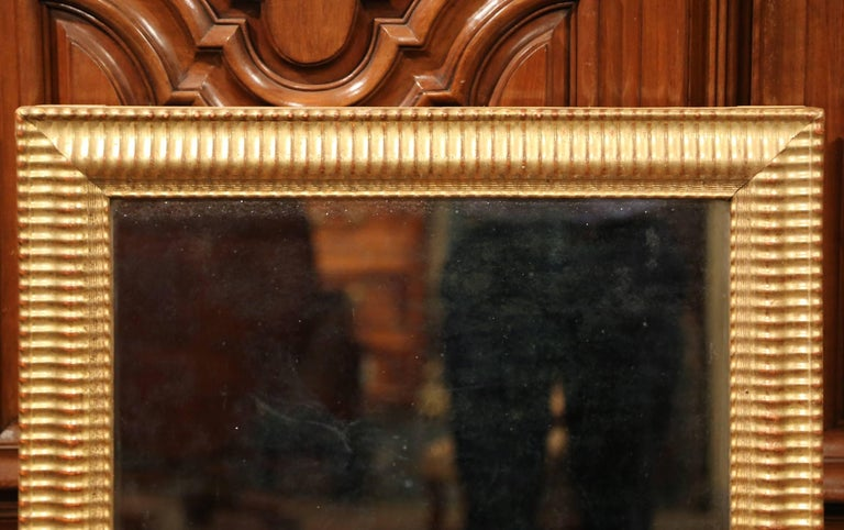 19th Century French Louis XVI Carved Giltwood Rectangular or Horizontal Mirror In Excellent Condition For Sale In Dallas, TX