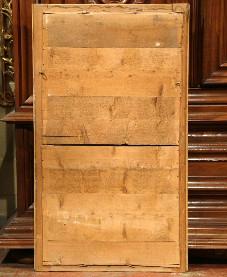 19th Century French Louis XVI Carved Giltwood Rectangular or Horizontal Mirror For Sale 3