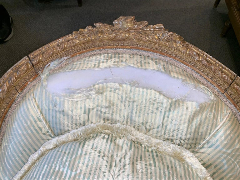 Late 19th Century 19th Century French Louis XVI Chaise Longue For Sale