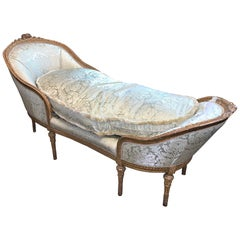 19th Century French Louis XVI Chaise Longue