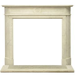 "19th Century French Louis XVI ""Demilune"" Mantelpiece"